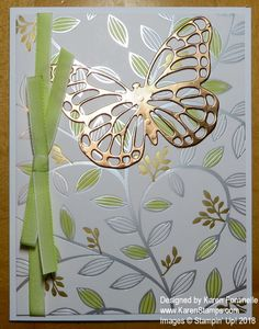 Make an easy card with the Springtime Foils Designer Paper for spring, Easter, or almost any occasion. https://www.stampinup.com/ECWeb/?dbwsdemoid=54345