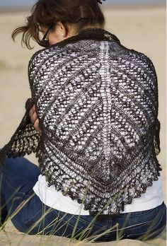 Ravelry: Ridge and Furrow Shawl pattern by The Fibre Workshop