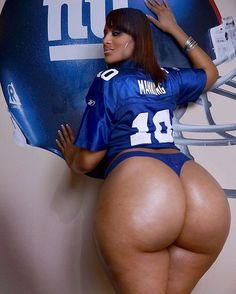 New York Giants fan with phat azz booty #fatbooty #datass