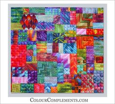 NEEDLEPOINT STITCH SAMPLER - Colour Complements