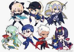 Anime Chibi, Anime Art, Character Concept, Character Art, Character Design, Fate Zero, Fate Stay Night, Cute Characters, Anime Characters