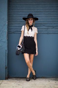 I WAS WEARING: Gucci studs loafers Valentino dress Hermès Kelly bag Fendi Karlito funny bag charm Stylestalker hat