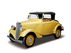 1935 Datsun Roadster. Jidosha-Seizo Co., Ltd. established in December 1933, became Nissan Motor Co.,Ltd in the following year and started full-scale production. At the company's new factory in Yokohama, the first car to come off the line was this Datsun Roadster.
