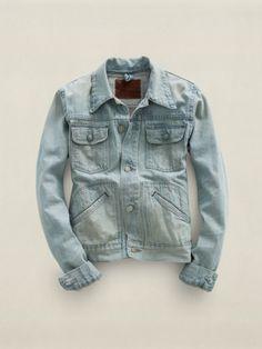 Turquoise Denim Roper Jacket - RRL ALL STOCK - RalphLauren.com Jeans Bleus,  Femmes 221bcc69e674
