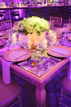Purple and Gold Wedding Tablescape via EVOKE DC www.evokedc.com www.evokedcblog.com Dominique Fierro Photography