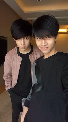"Bambam with his brother. Soooo I saw this and thought ""wow his brother looks like he's from Thailand"" and then I realised that they are indeed from Thailand.... Well, this is awkward"
