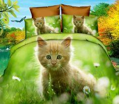 Detské obliečky 3D-140x200 MAČIATKO na lúke Tinkerbell, Disney Characters, Fictional Characters, Disney Princess, Cats, Animals, 3d, Gatos, Animales