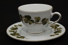 Pretty ivy design teacup made by Winterling by FineLilacVintage