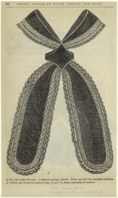 Medici girdle of black velvet and lace (1862)