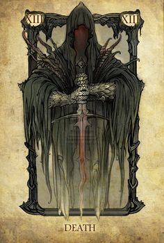 Lord of the Rings tarot cards, ringwraith, death