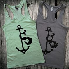 Who doesn't love a pole dancing mermaid?  This unique tank top is perfect for the aerial fitness enthusiast, or just anyone who adores mermaids!  Only $22.95 at Aerialist Boutique.