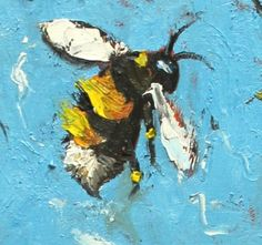 http://www.forvo.com/user/gorniak/ Bee painting 206 24x36 inch original oil painting by Roz by RozArt