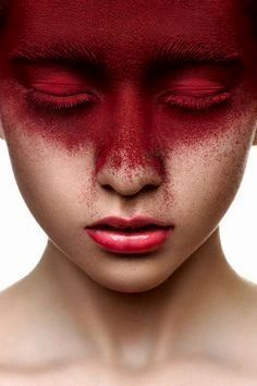 Red color makeup on face of beauty girl with the-Rote Farbmake-up auf Gesicht des Schönheit Mädchens mit den rosa Lippen auf Be… Red color makeup on face of beauty girl with pink lips on behance - Pink Red Lipstick, Pink Lips, Lipstick Colors, Red Hair Red Lips, Lip Colors, Red Eye Makeup, Makeup Art, Beauty Makeup, Face Makeup