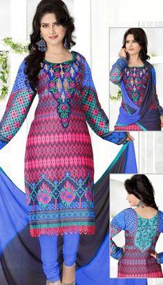 Latest Fashionable Indian Dusty Red Georgette Printed Salwar Kameez Online.  #Price INR- 1630 Link- http://alturl.com/yhvqz
