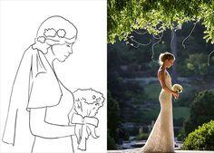 20 лучших поз для свадебной фотосессии, снимок невесты в профиль