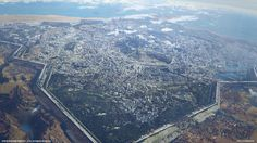 Sci-Fi Kingdom | ArtStation - Final Fantasy XV | Kingsglaive | Insomnia city panorama, Paul Chadeisson