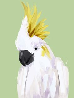 The Cockatoo Art Print - Green Lili