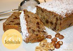 Kürbis- Schokoladen Kuchen mit Mandeln und Nüssen