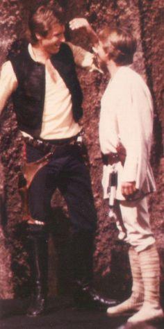 Harrison Ford and Mark Hamill Fake Geek Girl, Geek Girls, Leia Star Wars, Star Wars Luke Skywalker, Star Wars Ships, Star Wars Art, Harison Ford, Star Wars Design, Fanart