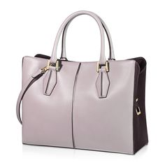 897c9a8268 Tod s D-Cube medium shopping bag in elegant smooth leather with  contrast-color velvety