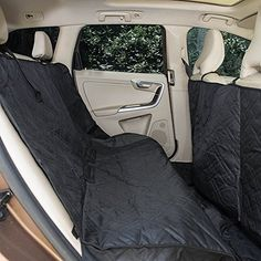 Portable Pet Mat Car Back Seat Cover 600D Oxford Fabric Extra Large Coverage Free Size 9356inches Black for Dogs Cats etc *** Be sure to check out this awesome product. This is an Amazon Affiliate links.
