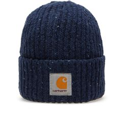 Like the Anglistic Sweater, the beanie is made from a super soft wool blend. This flecked knit has a ribbed construction allowing a great fit for any head, and features a button closure at the rear, fixing the cuff in place, and a woven Carhartt logo to the front.  78% Wool, 19% Cotton, 3% Acrylic Blend Flecked/Ribbed Knit Button Closure at Cuff Woven Carhartt Logo Patch