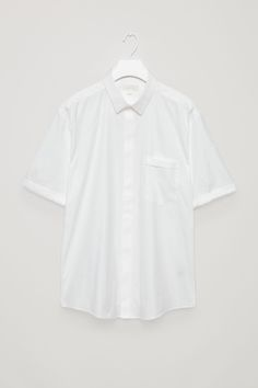 COS image 2 of Fold-sleeve shirt in White