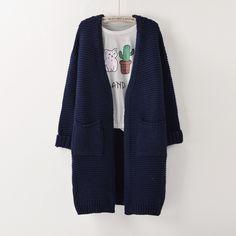 Womens Sweater Long Cardigan