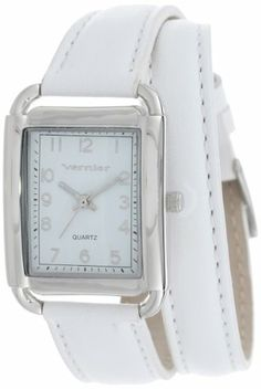 Vernier Women's VNR11136WT Puffed Leather Double Wrap Strap Watch Vernier Fashion Accessorries on sale at Vernier Women's Vernier Analog Display Japanese Quartz White Watch Vernier  Fashion Accessories on sale at Amazon ~ $70