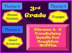 Cloze Worksheet Half Year Bundle for Houghton Mifflin Harcourt Third Grade Themes 4-5-6
