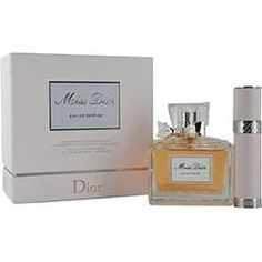 MISS DIOR (CHERIE) by Christian Dior SET-EAU DE PARFUM SPRAY 3.4 OZ & EAU DE PARFUM REFILLABLE SPRAY .25 OZ MINI for WOMEN