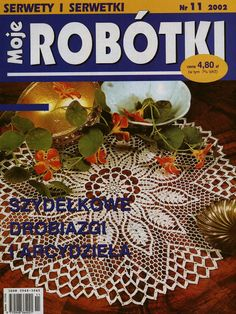 "Photo from album ""Moje robotki on Yandex. Russian Crochet, Crochet Art, Crochet Home, Thread Crochet, Filet Crochet, Lace Knitting, Crochet Designs, Crochet Patterns, Crochet Book Cover"