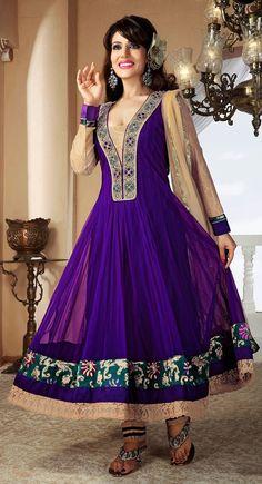 Adorable Deep Purple Salwar Kameez