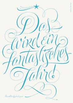 This will be a fantastic year by Martina Flor, via Behance