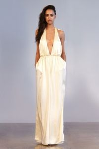 KRISTEN: Halter Top Wide Legged Romper With Waistband Of Embroidered Stones