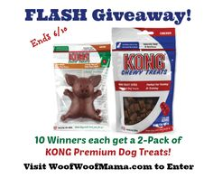 Win KONG Premium Dog Treats: Video Contest + Flash Giveaway! Loads of prizes so be sure to stop by!