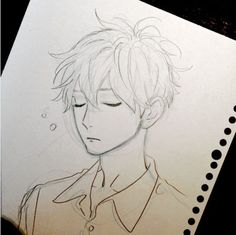 Mamura waking up. The pajamas are on purpose. He probably sleeps in a T-shirt normally.