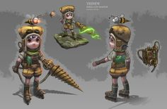 Fake League Of Legends Characters Look As Good As The Real Ones #child #mech #steampunk