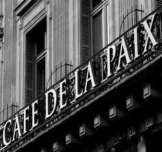 Cafe de la Paix Paris - for the hot chocolate