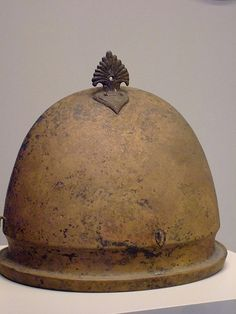 Etruscan Negau-type Hoplite Helmet 500-400 BCE. Made with Bronze. This type of helmets was very popular in Sparta.