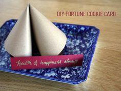 DIY Fortune Cookie Card
