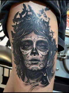 Tattoo ink catrina