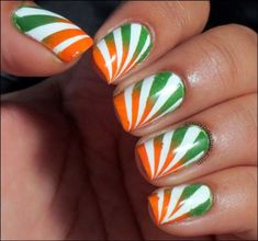 Today India is celebrating it's Independence Day from Gr. Independence Day Activities, Independence Day Decoration, 15 August Independence Day, Indian Independence Day, Indian Nail Art, Indian Nails, Best Nail Art Designs, Simple Nail Designs, Holiday Crafts For Kids