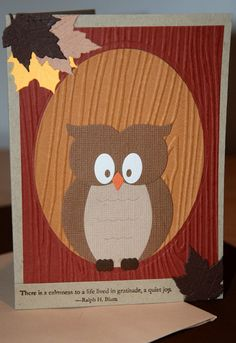 Owl card ~