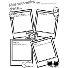 Mes souvenirs d'été - Back to School by Mme Marie Eve End Of School Year, Beginning Of School, Too Cool For School, First Day Of School, French Teacher, Teaching French, High School French, French Worksheets, Core French