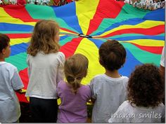parachute goodbye song at preschool game day