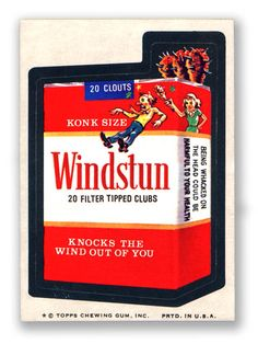 Topps Wacky Packages  9th Series 1974 WINDSTUN