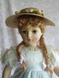 "RARE 21"" Hard Plastic Madame Alexander McGuffey Ana in Hard to Find Outfit"
