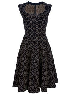 ALAÏA - Flared sleeveless dress