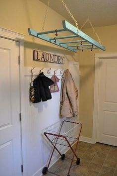 ladder as drying rack by MmeD.